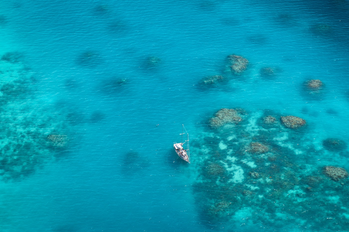 View of the great barrier reef cairns