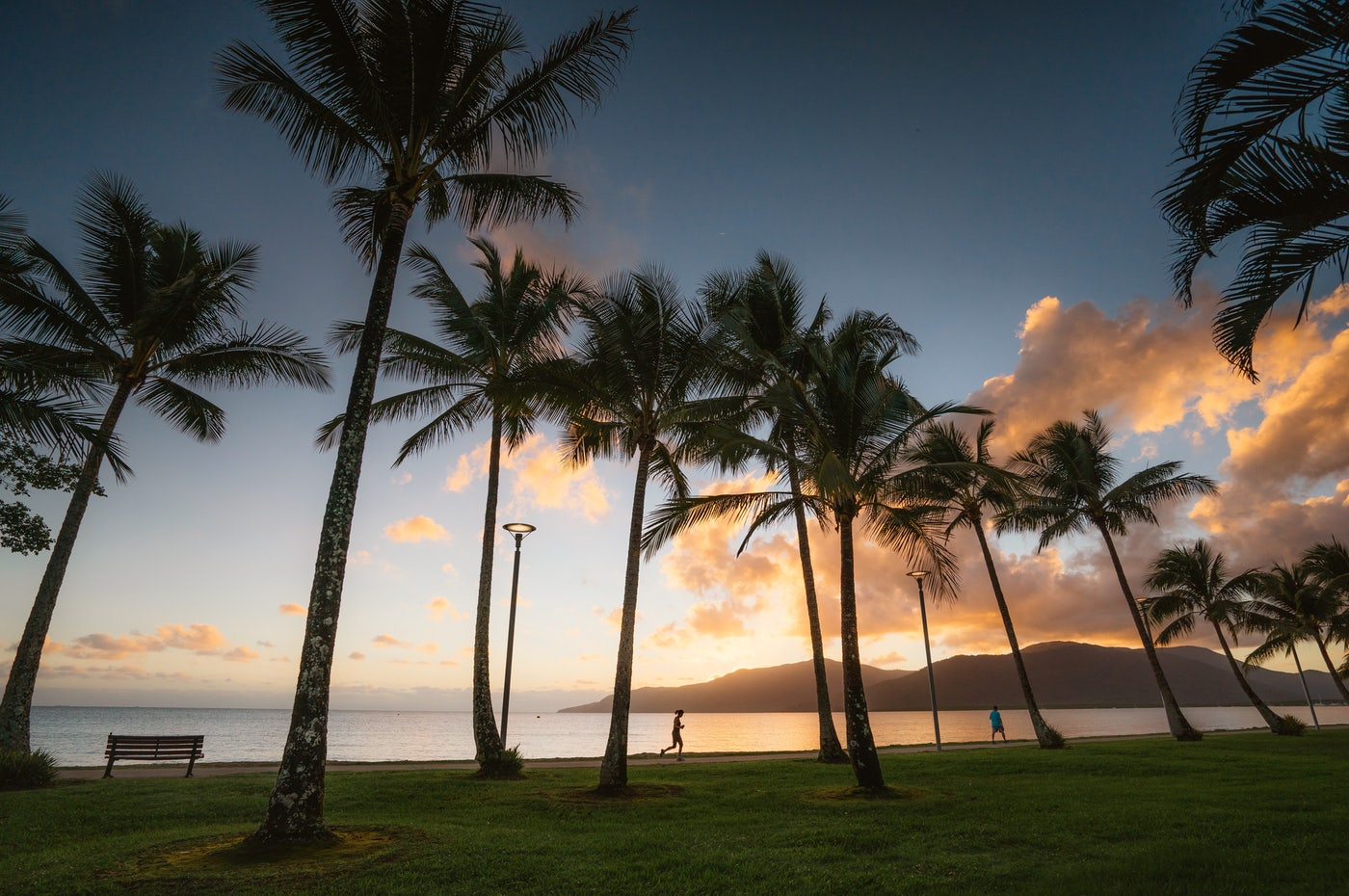 View of the Sunset on Cairns beaches