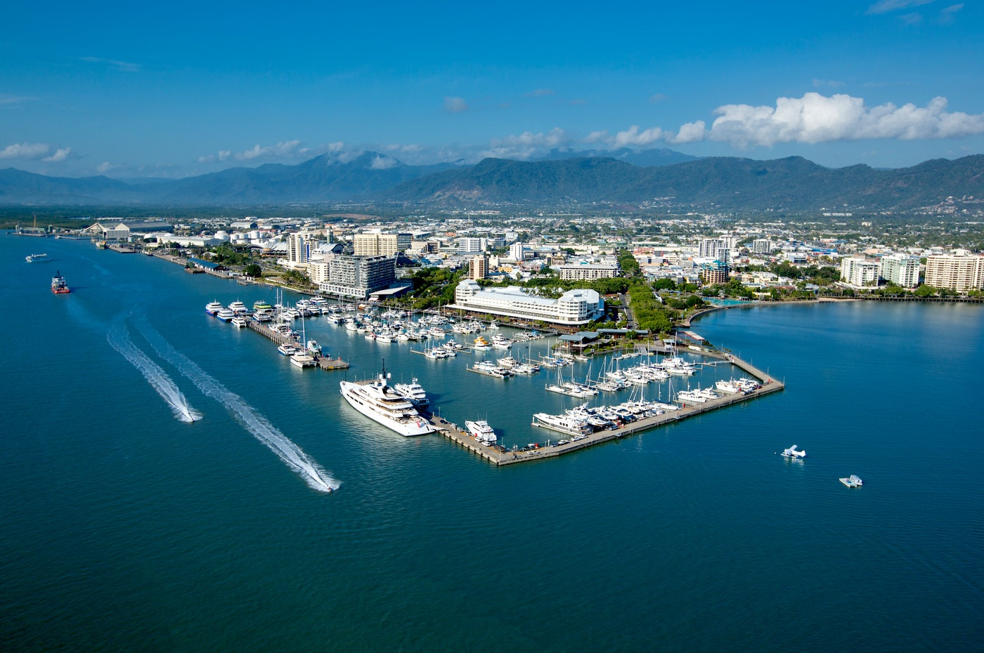 View of the Cairns Boat Harbour